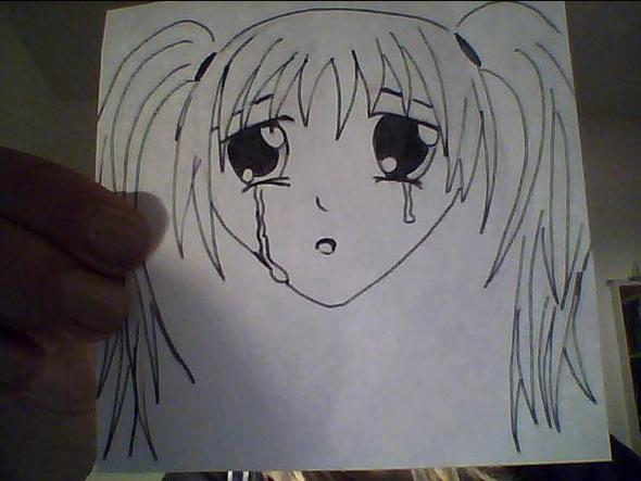 Manga Mädchen traurig - (Manga, zeichnen)