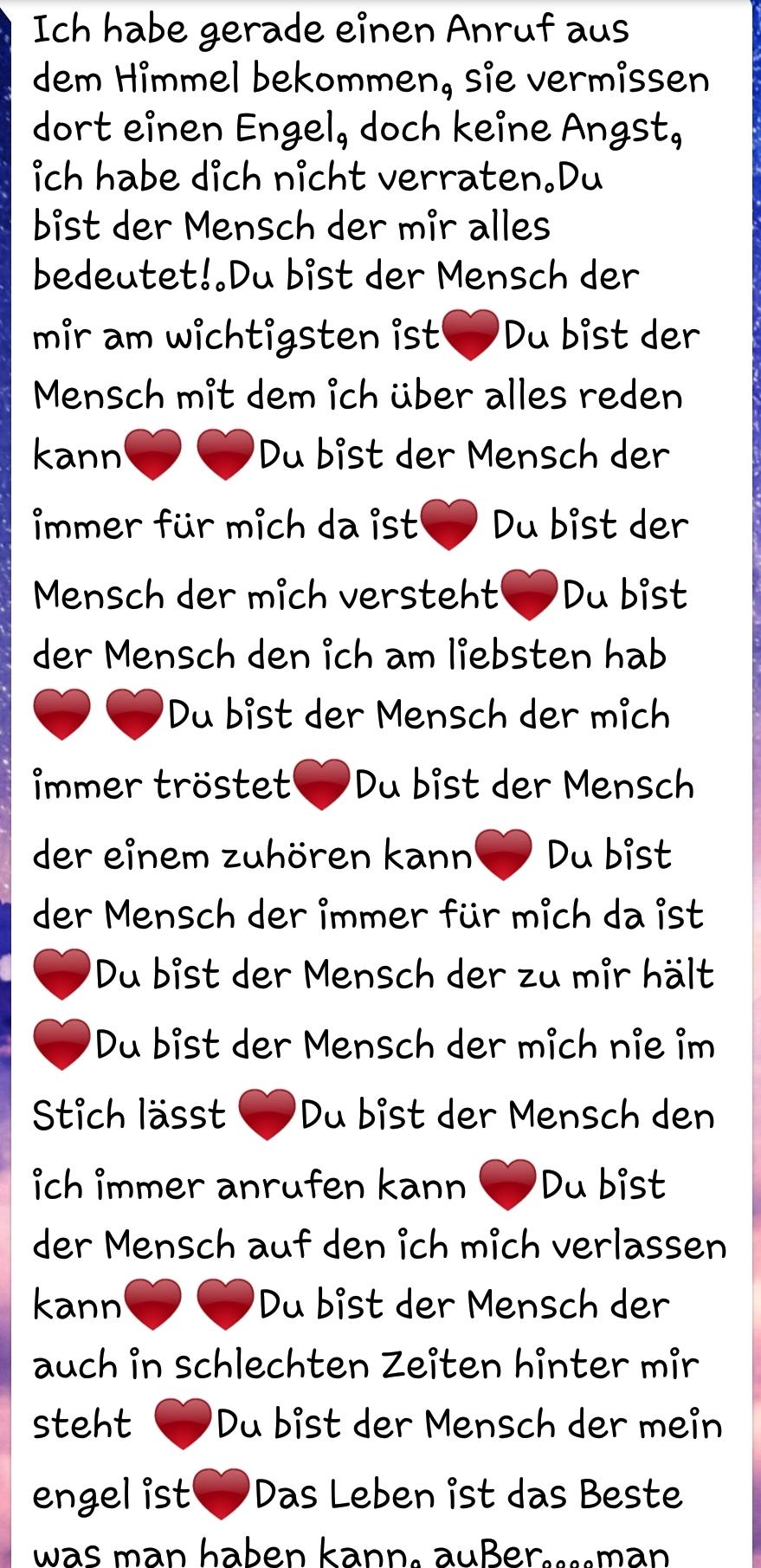 Süßer text für freundin instagram