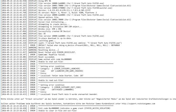 Hier die .log Datei - (Computer, Spiele, Absturz)