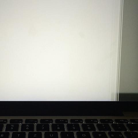So sieht der Bildschirm aus, jedes Mal wenn ich ihn wieder anstelle😕 - (Elektronik, Macbook, Display)
