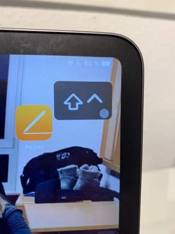 Mein iPad zeigt einen Pfeil an. Wie geht dieser nun weg?