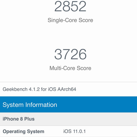 Hier die benchmark tests - (Internet, iPhone, Smartphone)