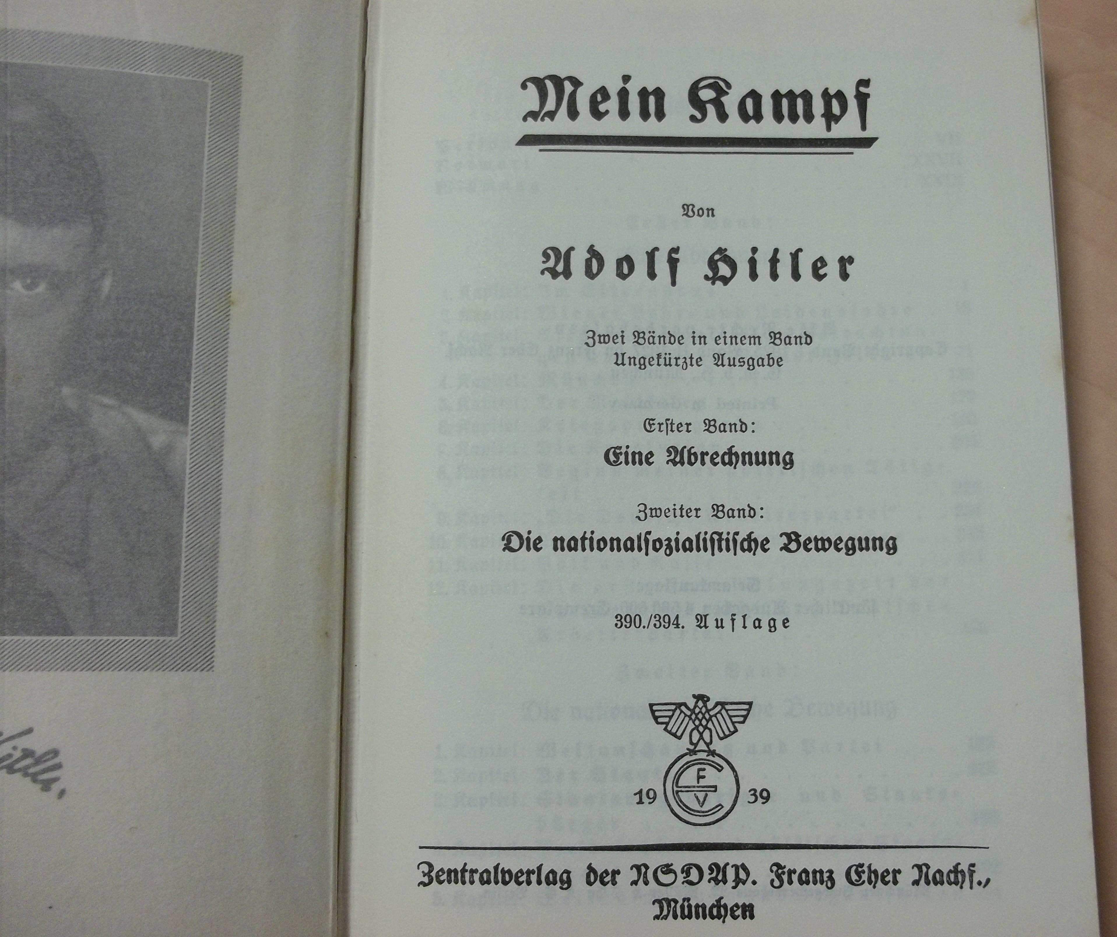 Originalausgabe Mein Kampf