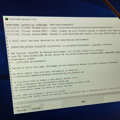 Mein Minecraft Stürzt Nach Kurzer Zeit Immer Ab PC Absturz - Pc sturzt beim minecraft spielen ab
