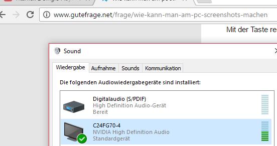 Hier mein Monitor, aber wie gesagt kein Ton hört man - (PC, Monitor)