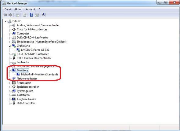 Gerätemanager - (Grafikkarte, Monitor)