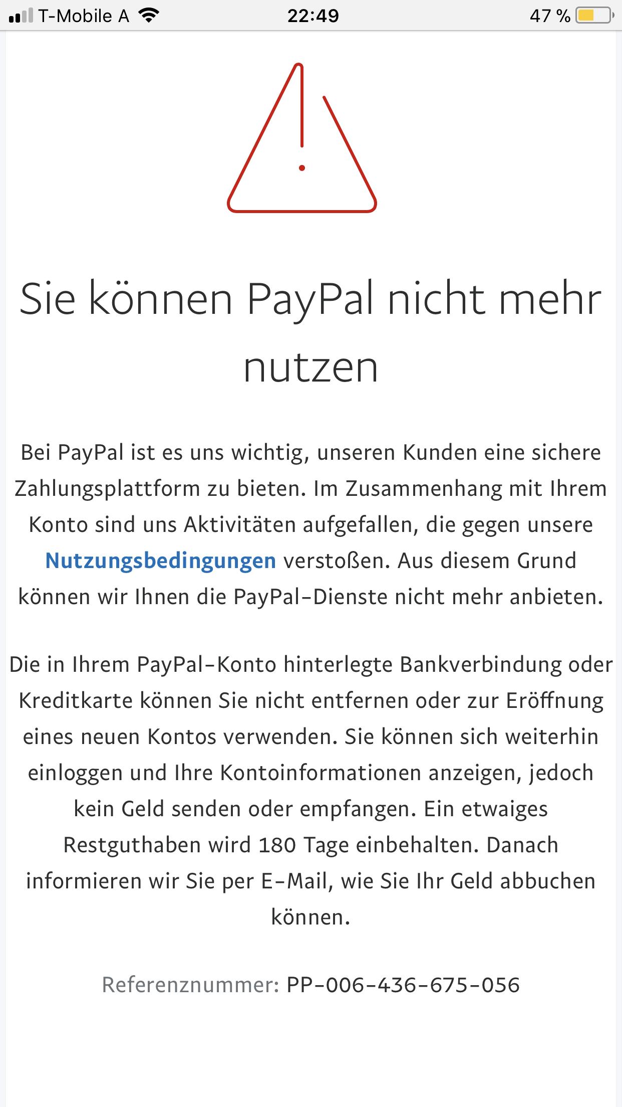 Mein Paypal Konto Funktioniert Nicht