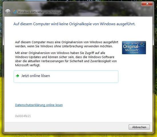 windows meldung - (PC, Windows)