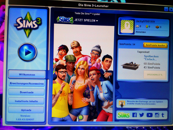 - (Sims 3, The sims 3, sims 3 launcher)