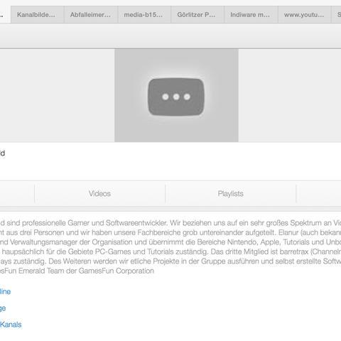 Anzeige auf der Mobilseite (kein Bild) - (Computer, Youtube, App)