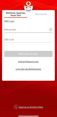 Mein Vodafone App?