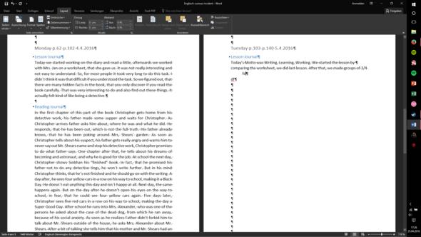 Hier so siehts aus,  - (Microsoft, Schreiben, Word)