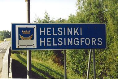 Ortsschild - (Sprache, finnland, helsinki)