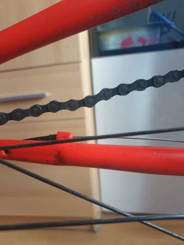 Meine Kette vom Fahrrad ist gebogen?