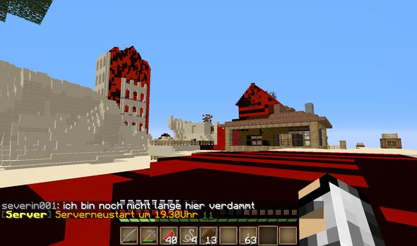 hier ein bild - (Minecraft, Keine blöcke sehen)