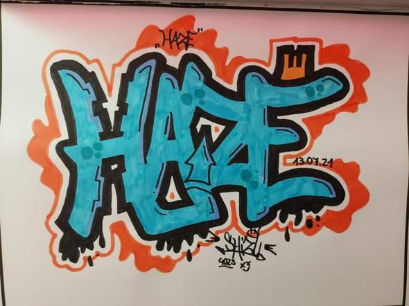Meinung zu meinem neuen Graffiti :)?