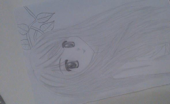 erste anime zeichnung..... - (Hobby, zeichnen, malen)