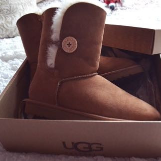 Braune Ugg-Boots Bailey Button 💕 - (Mädchen, Schuhe, Meinung)