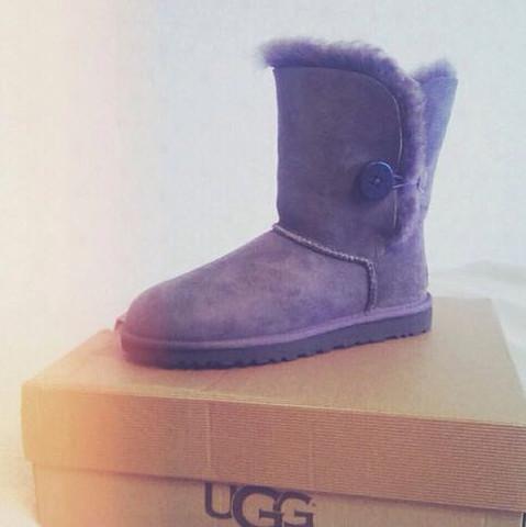 Graue Ugg-Boots Bailey Button 💕 - (Mädchen, Schuhe, Meinung)