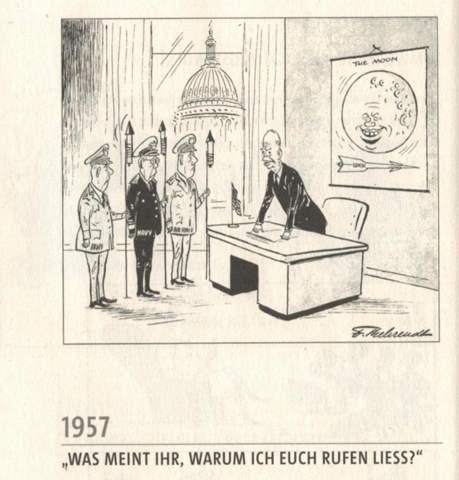 Meinungen/ Deutungen zu dieser Karikatur 1957?