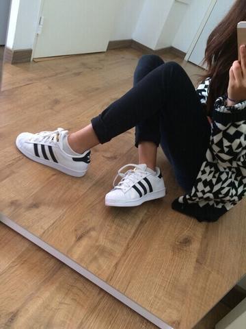 Superstars Adidas Weiß Schwarz