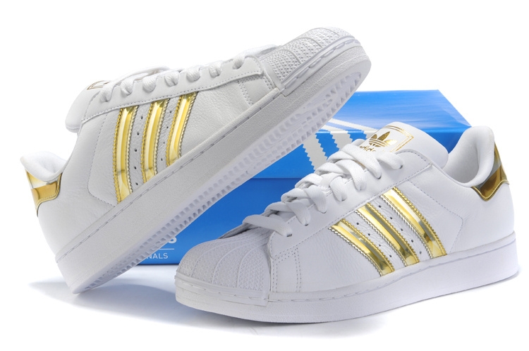 adidas Superstar White Gold DTLR