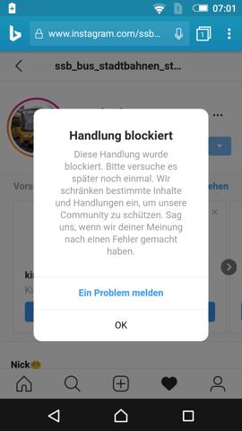 Gegenseitig bei instagram blockiert