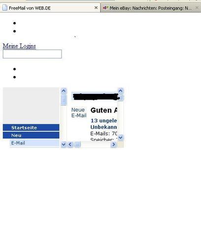 bild 2 - (Fehlermeldung, web.de, einloggen)