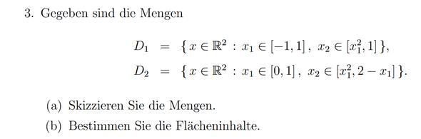 Aufgabe - (Mathematik, menge, skizzieren)