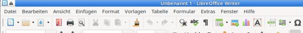 Menüleiste in LibreOffice fehlt. Warum?