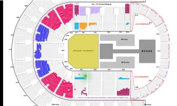 Oberhausen sitzplan arena Tickets für