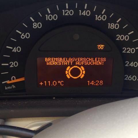 Mercedes W Service Bremse Werkstatt Aufsuchen