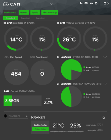 CamSoftwareTemperatur - (cpu, Mainboard, Temperatur)