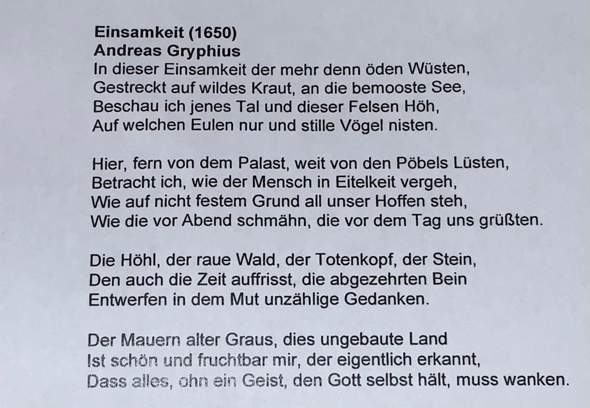 - (Schule, Deutsch, Gedicht)