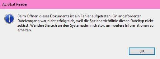 Microsoft - PDF Dateien können nicht mehr aus Mail geöffnet werden?