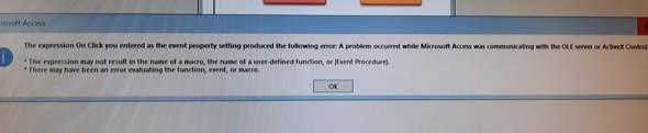 Microsoft Access Problem mit Makro?