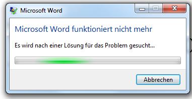 Microsoft Word 2010 startet nicht?