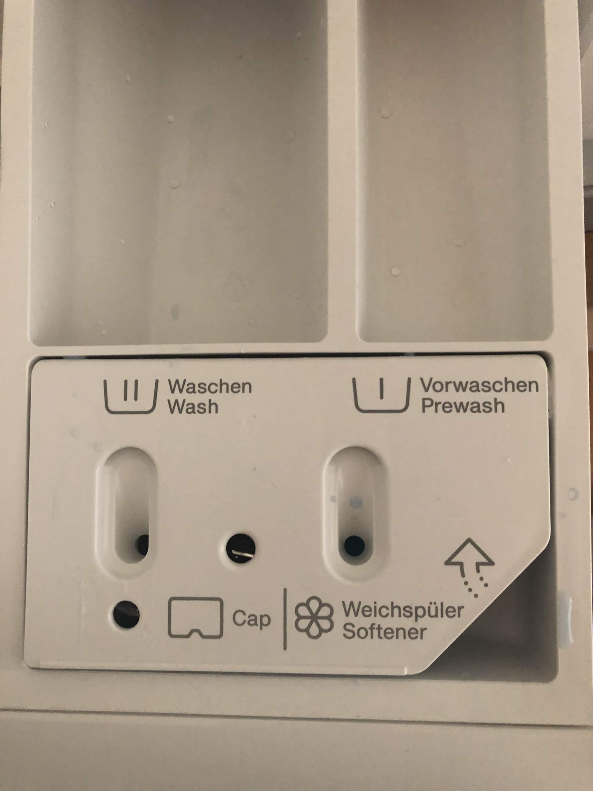 Weichspülerfach miele waschmaschine wasser im In ausgeschalteter