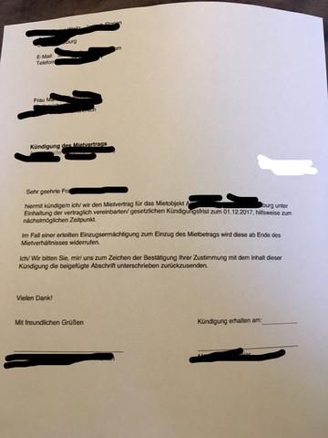 Mietvertrags Kündigung Ohne Datum Rechtswirksam Mietrecht