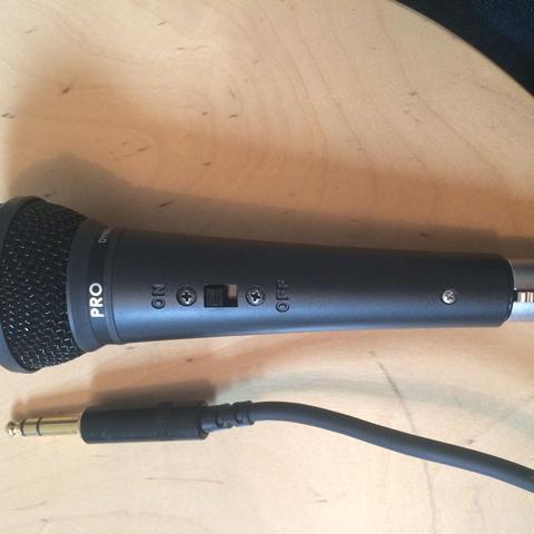 Das Mikrofon mit Kabel  - (Mikrofon, Mischpult, Tontechnik)