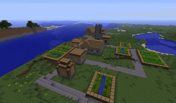 Minecraft Kleines Dorf Und Höhlen Plötzlich Auf Server Computer - Eigenen minecraft varo server erstellen