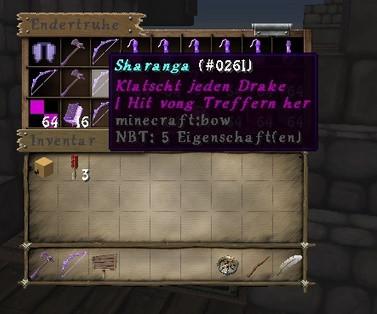 Die violette Schrift da - (Minecraft, Befehle)