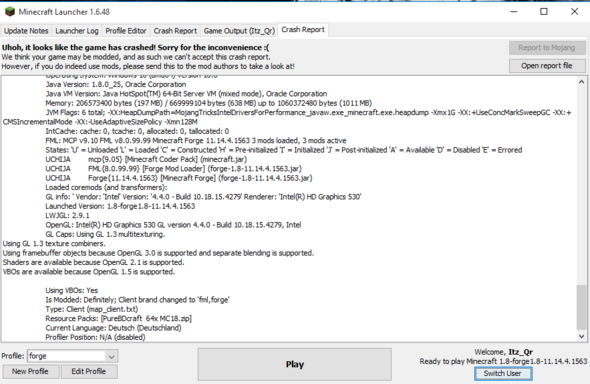 Crashbericht - (Minecraft, crash, forge)