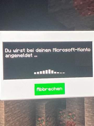 Minecraft Anmeldung?
