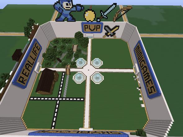 Von oben. - (Minecraft, Ideen, spawn)