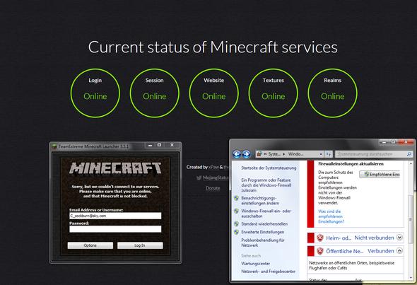 alles nciht down - (Minecraft, Fehler)