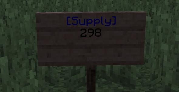 Beispiel SupplySign - (Computer, Bukkit-Plugin, Supplysign)