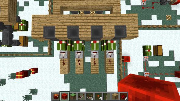 Kisten mit dem Komparator zweier Abstand - (Technik, Minecraft, Computerspiele)