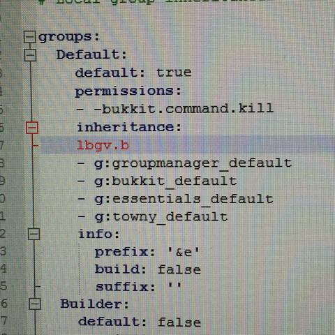 Minecraft Fehler(PermissionsEX oder Notepad++)? (Plug-in)