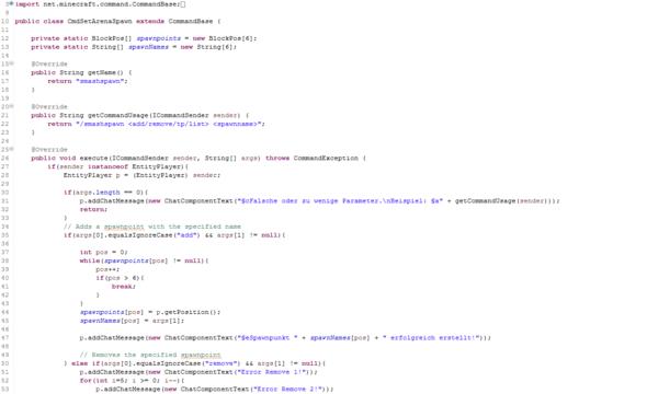 Zeile 3-53 - (Minecraft, Mods, Java)